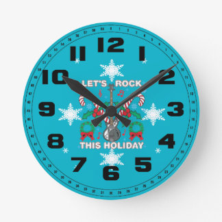 Snowflakes Ugly Sweater Lets Rock This Holiday Round Clock