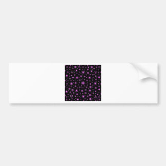 Snowflakes – Ultra Pink on Black Bumper Stickers