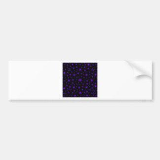 Snowflakes – Violet on Black Bumper Stickers