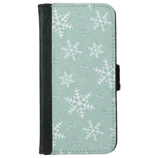 Snowflakes Wallet Phone Case For iPhone 6/6s