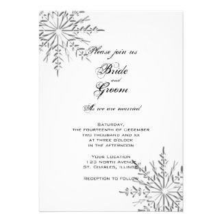 Snowflakes Wedding Invitation