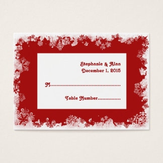 Snowflakes Wedding Place Cards