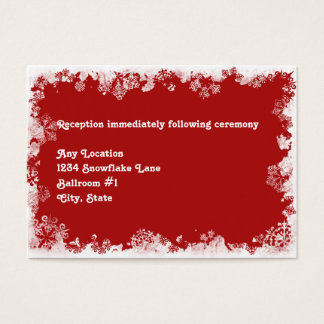 Snowflakes Wedding Reception Card