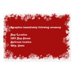 Snowflakes Wedding Reception Card Business Card