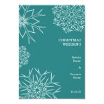 Snowflakes Wedding RSVP Card Personalized Invite