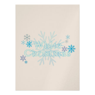 Snowflakes White Christmas Invitation Stamp Labels