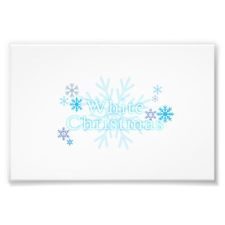 Snowflakes White Christmas Magnet Mouse Pad Mugs Photo Print