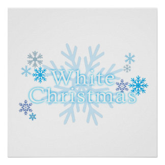 Snowflakes White Christmas Magnet Mouse Pad Mugs Poster