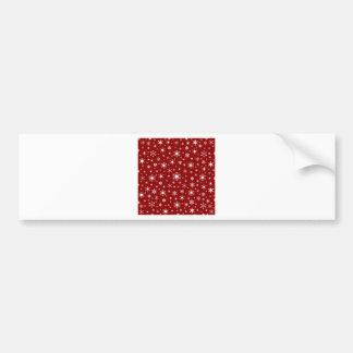 Snowflakes – White on Dark Red Car Bumper Sticker