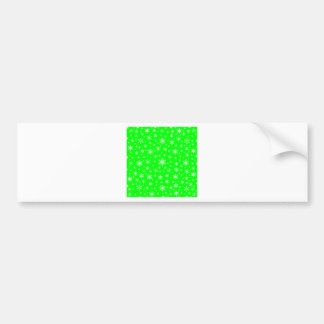 Snowflakes – White on Electric Green Car Bumper Sticker