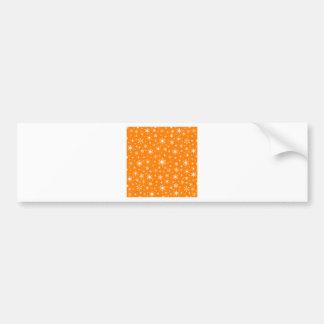 Snowflakes – White on Orange Car Bumper Sticker