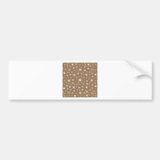 Snowflakes – White on Pale Brown Car Bumper Sticker