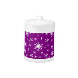 Snowflakes – White on Purple