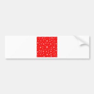 Snowflakes – White on Red Car Bumper Sticker