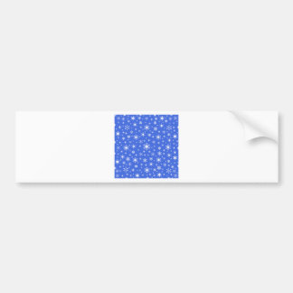 Snowflakes – White on Royal Blue Car Bumper Sticker
