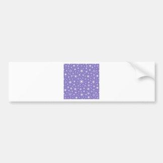 Snowflakes – White on Ube Car Bumper Sticker