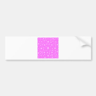 Snowflakes – White on Ultra Pink Bumper Stickers