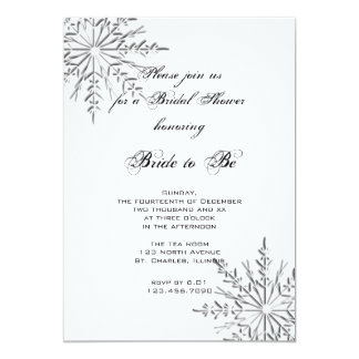 Snowflakes Winter Bridal Shower Invitation