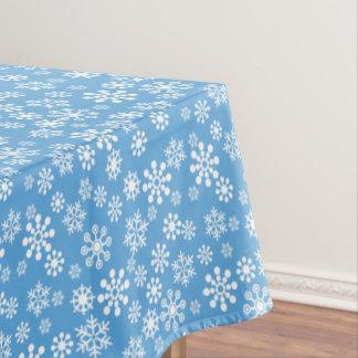 Snowflakes Winter Cotton Tablecloth, 52u0026quot;x70u0026quot; Tablecloth