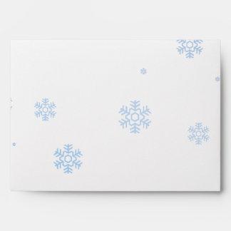 Snowflakes Winter Illustration - Envelope