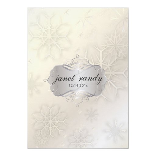Snowflakes, Winter  Wedding Invitations
