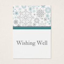 Snowflakes Winter Wedding Stationery Business Card