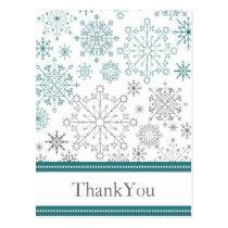 Snowflakes Winter Wedding Stationery Postcard