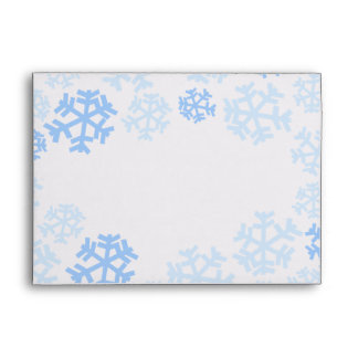 Snowflakes with Address/Text on Back Flap Envelope