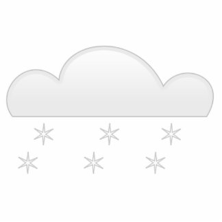 Snowflakes with Cloud Statuette