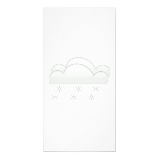 Snowflakes with Clouds Photo Cards
