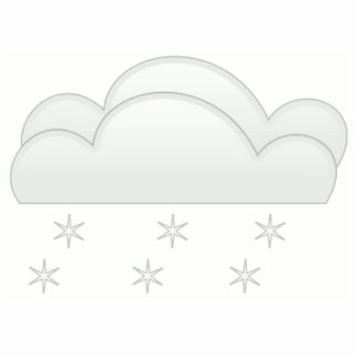 Snowflakes with Clouds Statuette