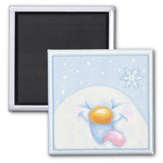 Snowfun Snowman and Snowflakes Magnet