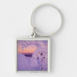 Snowghost in the Whitefish Range at Twilight Keychain