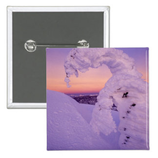 Snowghost in the Whitefish Range at Twilight Pinback Button