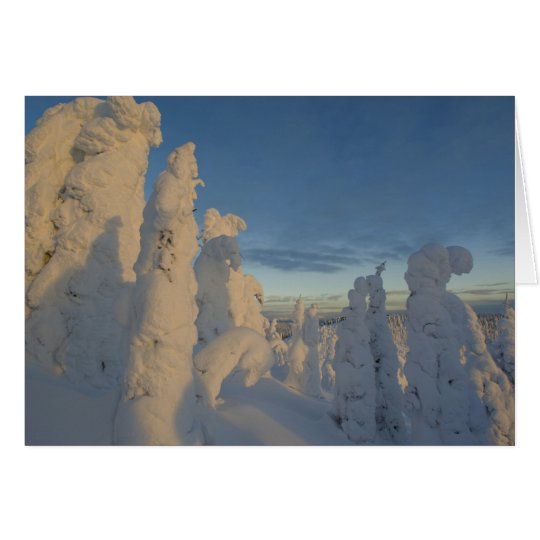Snowghosts at sunset at Whitefish Mountain 2 Card
