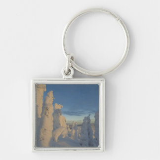 Snowghosts at sunset at Whitefish Mountain 2 Keychain