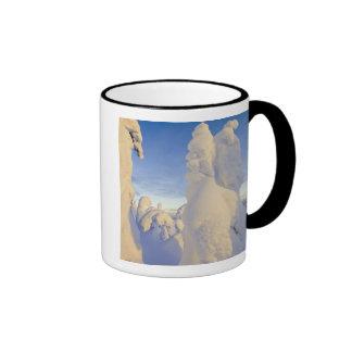 Snowghosts at sunset at Whitefish Mountain Ringer Coffee Mug