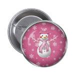Snowgirl pink button