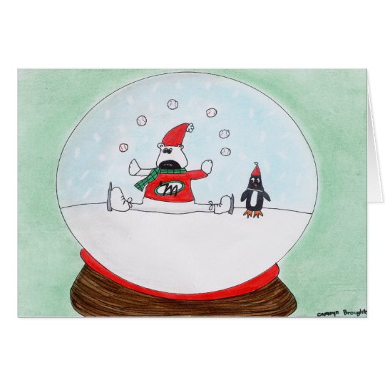 Snowglobe holiday greeting card