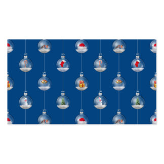Snowglobes at Dusk Double-Sided Standard Business Cards (Pack Of 100)