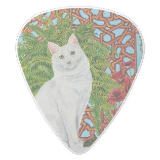Snowi's Garden White Delrin Guitar Pick