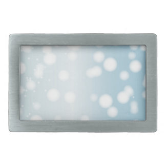 Snowing Banner Background Rectangular Belt Buckle