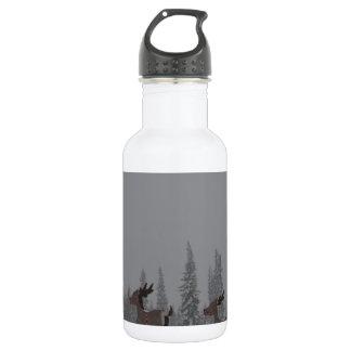 Snowing Blizzard Snow Snowflake Frozen Ice Santa Water Bottle