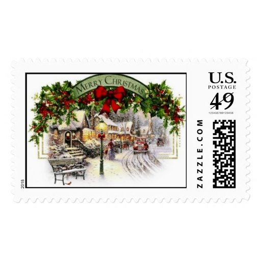 Snowing For The Holidays Stamp