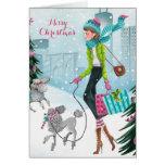 Snowing Hearts - Christmas Greetings Card