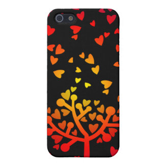Snowing Hearts iPhone 5 Case
