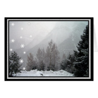 Snowing in the Mountains Christmas Greeting Card