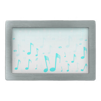 Snowing Music Rectangular Belt Buckle