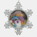 Snowlady Snowflake Pewter Ornament