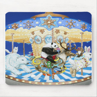 Snowland Carouself Mouse Pads